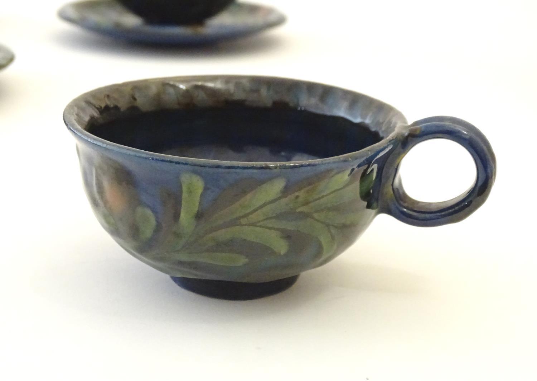 A quantity of Kahler Keramik Danish studio pottery tea wares, comprising a teapot and four cups - Image 9 of 30