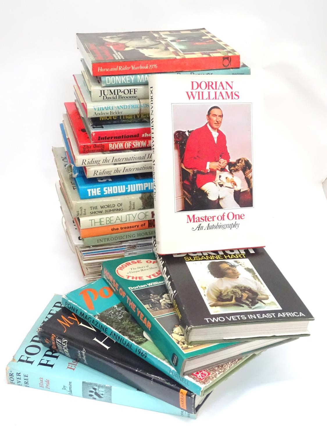 A quantity of riding books, titles to include Master of One, An autobiography of Dorian Williams,