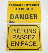 Two French enamel signs Please Note - we do not make reference to the condition of lots within