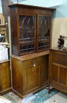 An Edwardian cabinet with glazed top Please Note - we do not make reference to the condition of lots