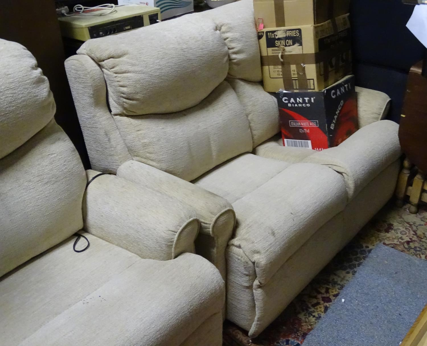 A Parker Knoll two seater sofa and reclining armchair (2) Please Note - we do not make reference - Image 2 of 3