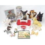 A quantity of ceramic animals etc. Please Note - we do not make reference to the condition of lots