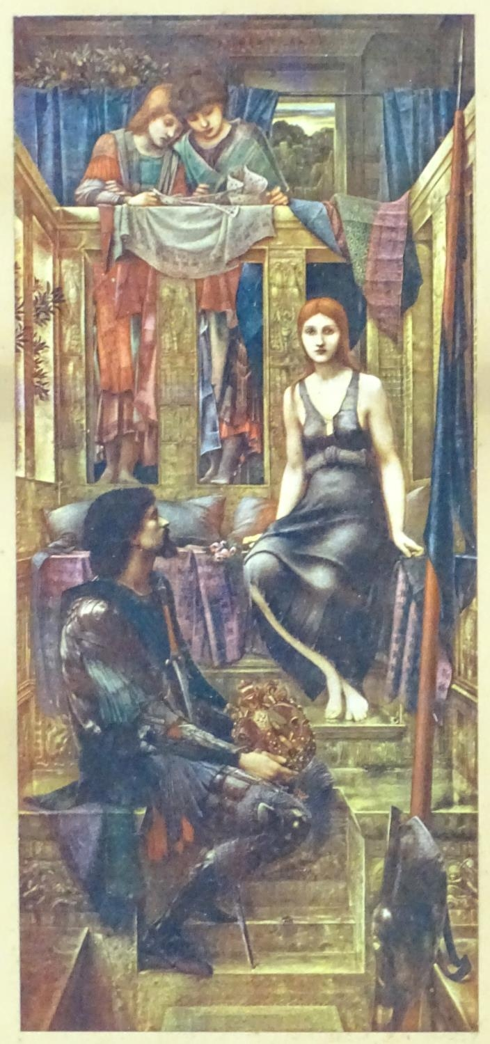 After Edward Burne Jones (1833-1898), Colour print, King Cophetua and the Beggar Maid. Titled under. - Image 3 of 4
