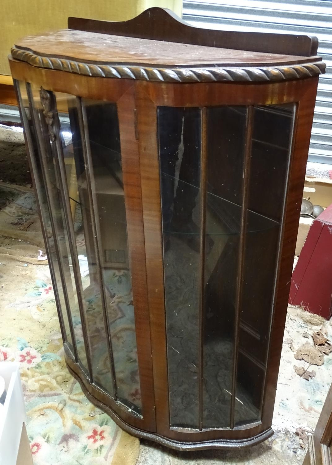 A demi lune glazed display cabinet Please Note - we do not make reference to the condition of lots - Image 4 of 4