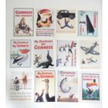 Twelve reproduction Guinness postcards Please Note - we do not make reference to the condition of