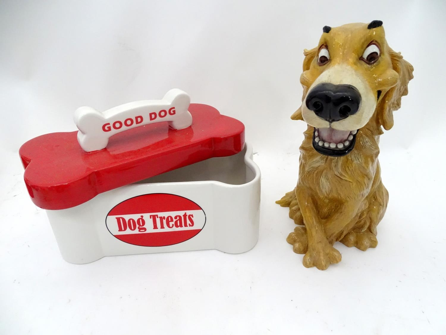 A quantity of assorted ceramic items to include biscuit barrel formed as a dog, two boxed Ansley - Image 5 of 6
