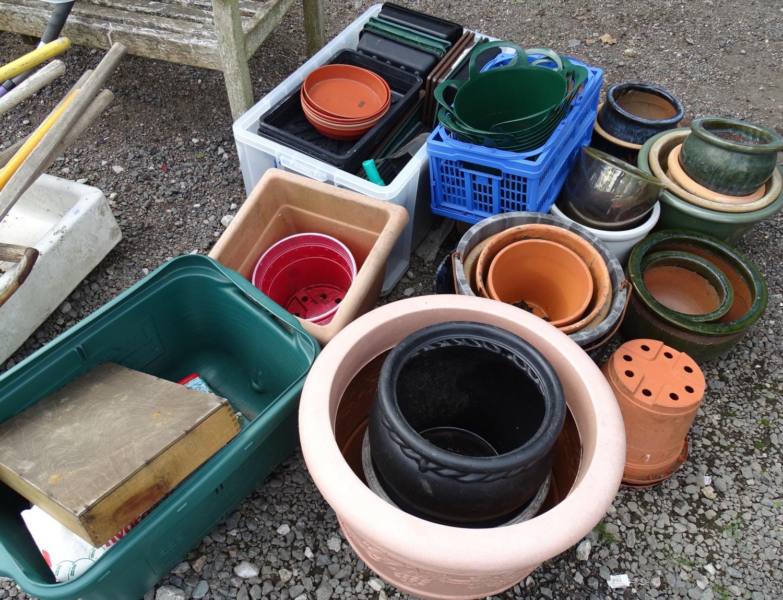 A quantity of propagators, planters, buckets, flower pots etc. Please Note - we do not make