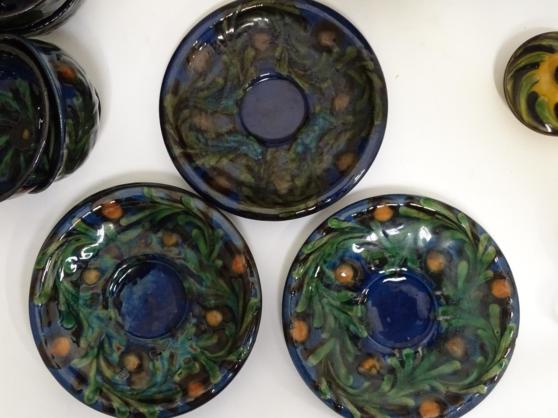 A quantity of Kahler Keramik Danish studio pottery tea wares, comprising a teapot and four cups - Image 23 of 30