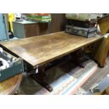 A large oak dining / refectory table Please Note - we do not make reference to the condition of lots