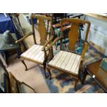 A pair of 20thC upholstered dining chairs (2) Please Note - we do not make reference to the