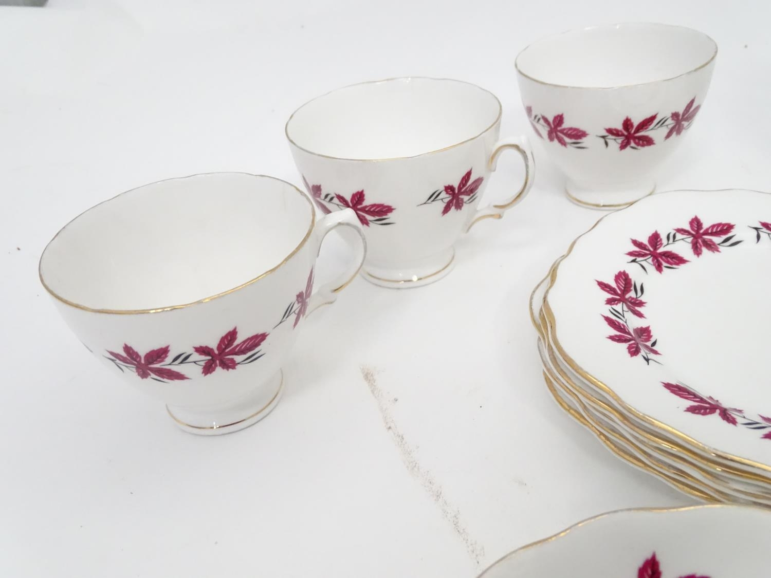 A quantity of assorted ceramics and glass to Colclough cups and saucer, Royal Brierley crystal - Image 7 of 15