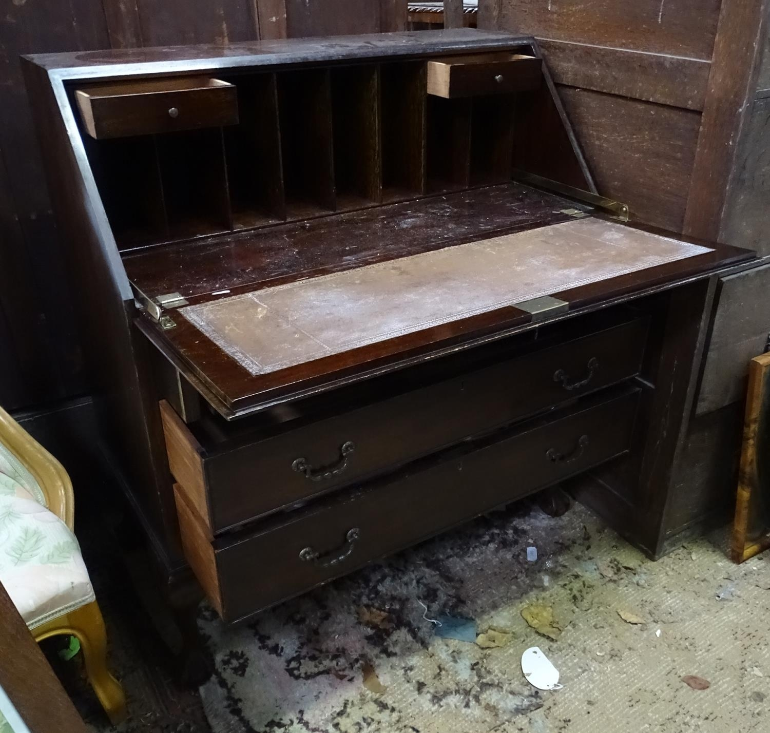 A 20thC mahogany bureau Please Note - we do not make reference to the condition of lots within - Image 2 of 4