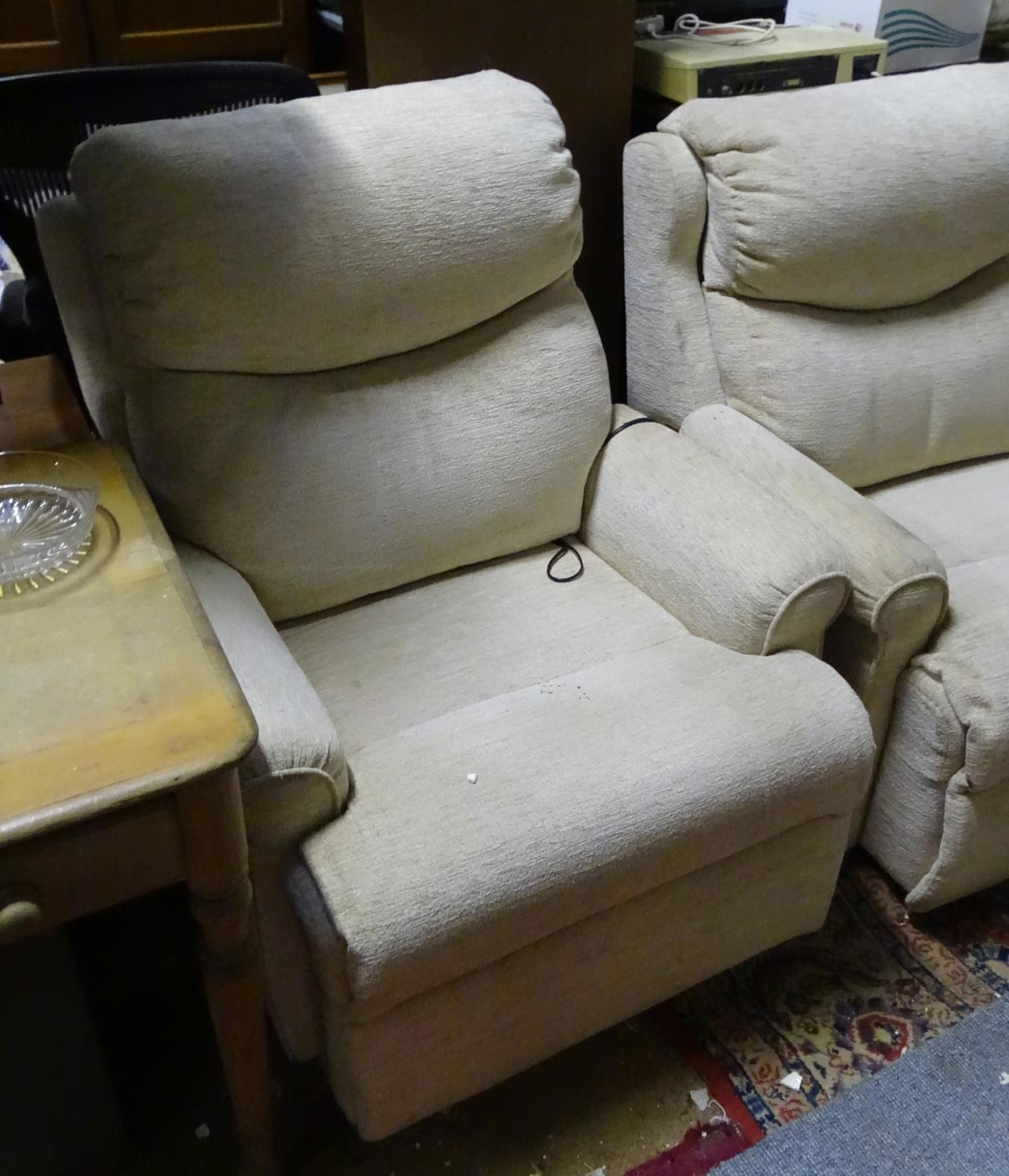 A Parker Knoll two seater sofa and reclining armchair (2) Please Note - we do not make reference - Image 3 of 3