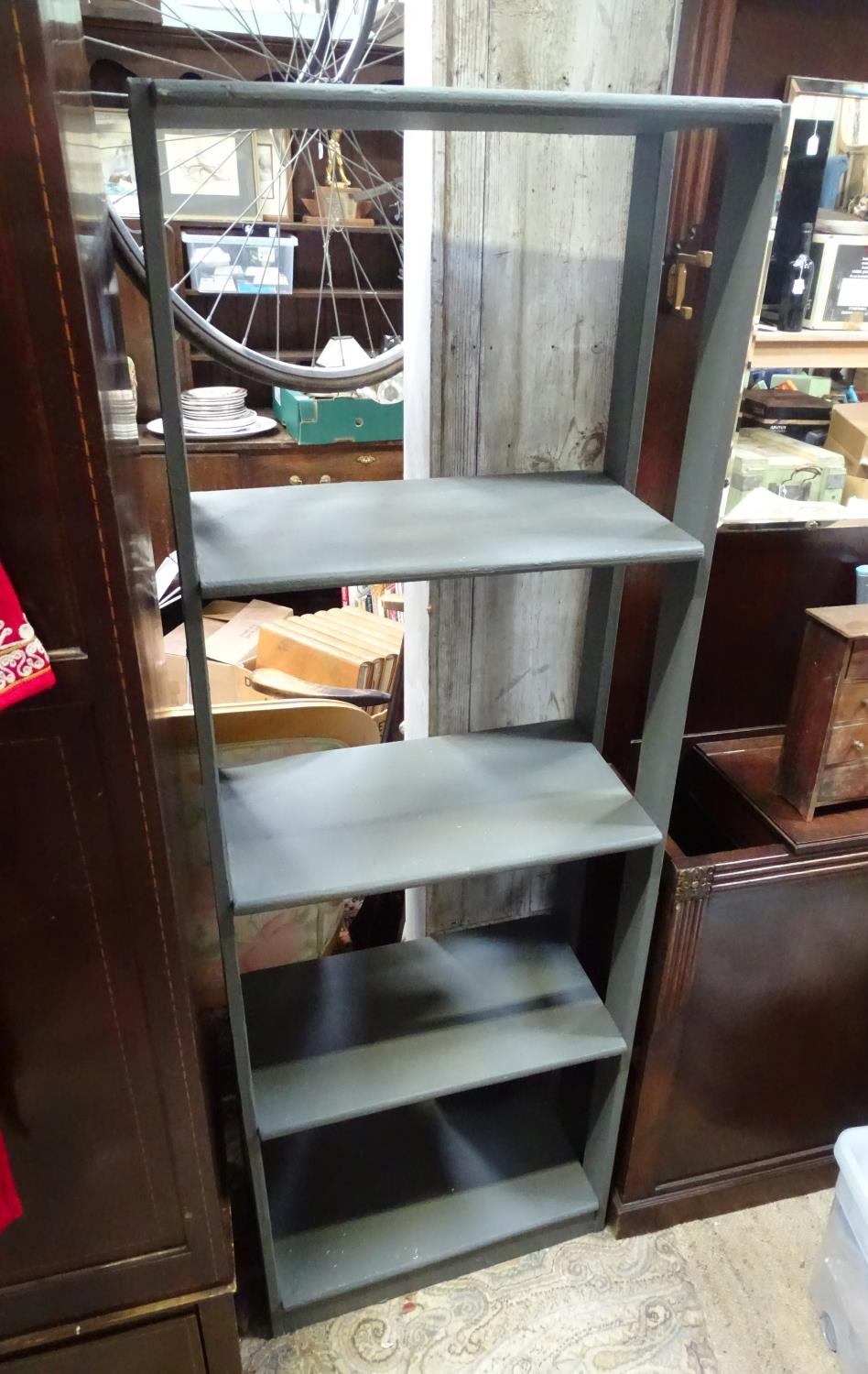 A grey painted bookshelf Please Note - we do not make reference to the condition of lots within - Image 2 of 2