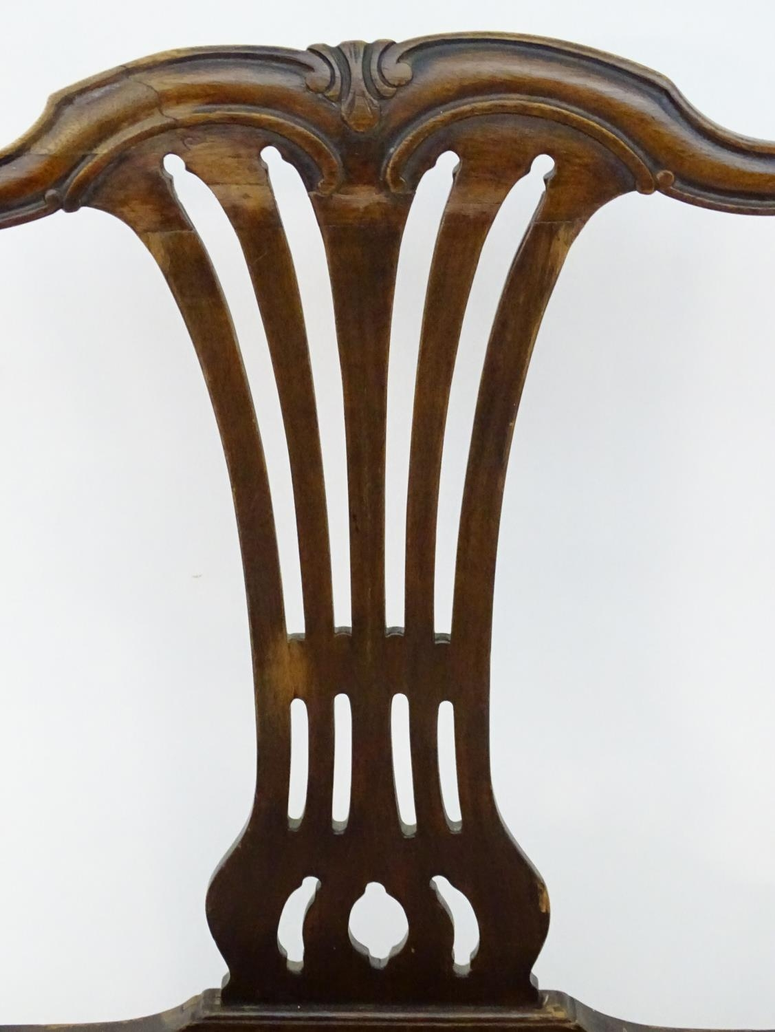 A 19thC mahogany carver chair with upholstered seat Please Note - we do not make reference to the - Image 5 of 6
