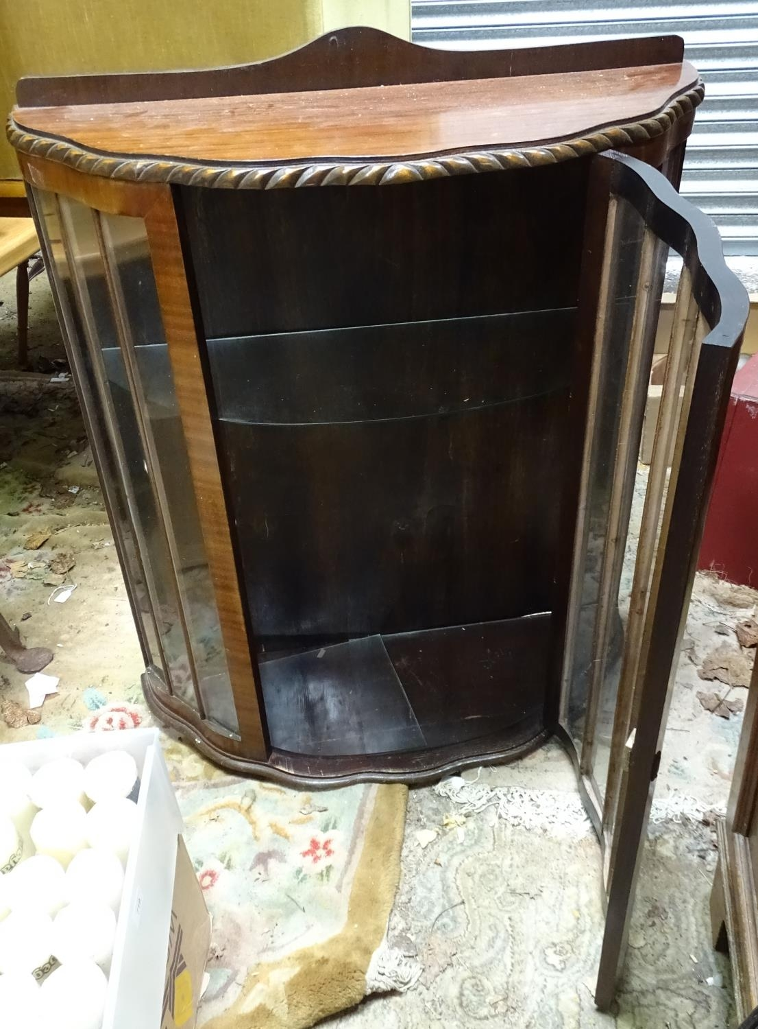 A demi lune glazed display cabinet Please Note - we do not make reference to the condition of lots - Image 2 of 4