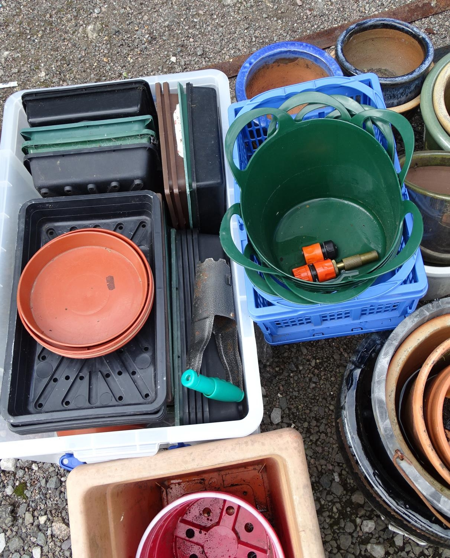A quantity of propagators, planters, buckets, flower pots etc. Please Note - we do not make - Image 3 of 5