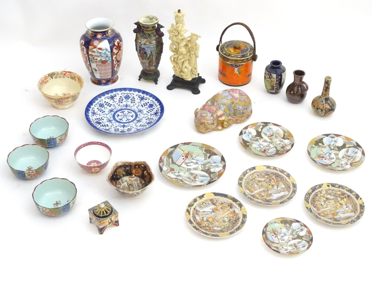 A quantity of Oriental ceramics Please Note - we do not make reference to the condition of lots - Image 3 of 9