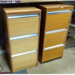 A pair of vintage retro teak filing cabinets by President (2) Please Note - we do not make reference