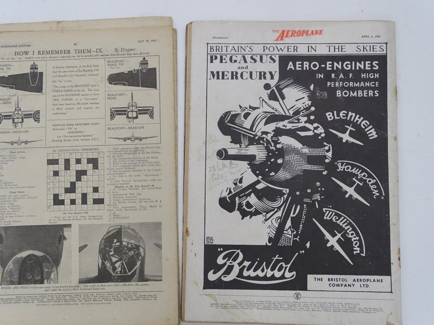 A quantity of 1941 copies of The Aeroplane Spotter magazine and The Aeroplane (8) Please Note - we - Image 9 of 12