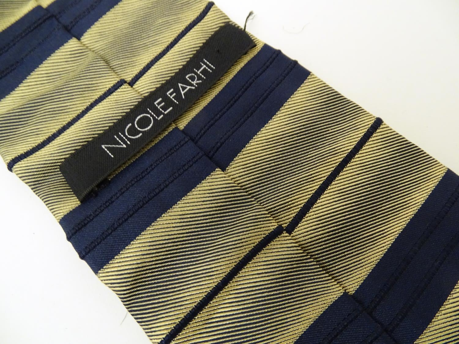 Vintage clothing/ fashion: 6 silk ties in various colours and patterns by Yves Saint Laurent, Nicole - Image 10 of 10