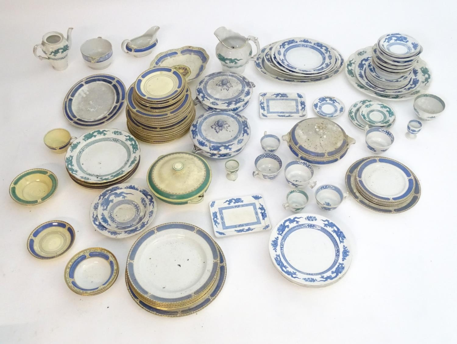 A large quantity of assorted Booths china to include teapots, plates, tureens, jugs, serving dishes, - Image 3 of 17