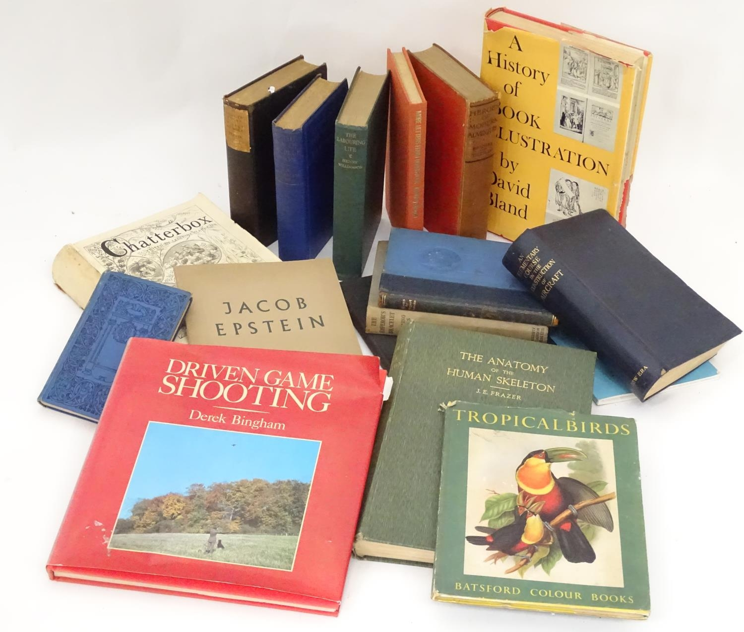 A quantity of assorted books to include The Anatomy of the Human Skeleton by J. E. Frazer,
