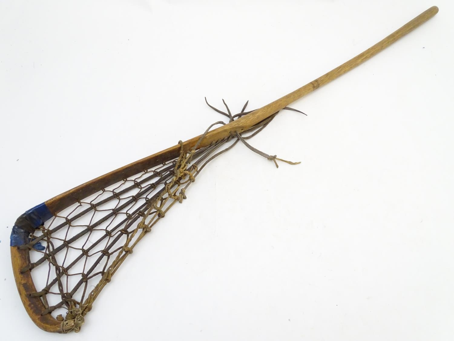 A Hattersley & Son wooden lacrosse stick / crosse, marked with maker and model Viktoria No. 1 to - Image 3 of 5