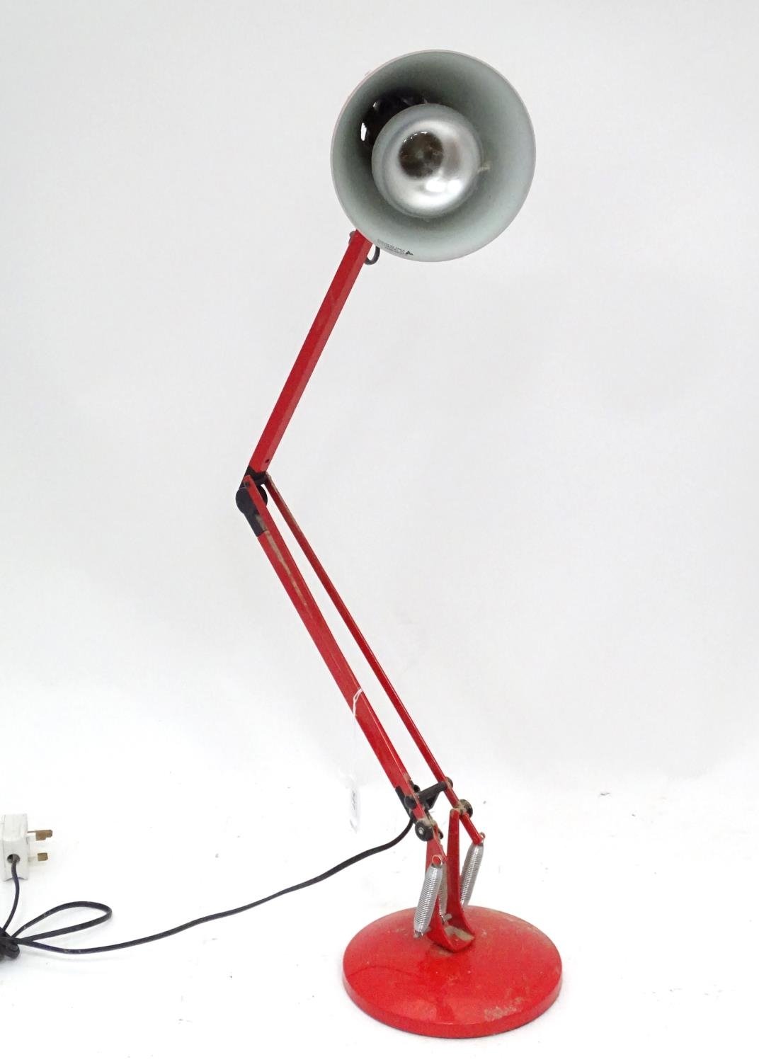 A red angle poise lamp Please Note - we do not make reference to the condition of lots within - Image 3 of 3