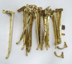 A quantity of brass window latches Please Note - we do not make reference to the condition of lots