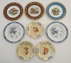 WITHDRAWN FROM AUCTION. A quantity of assorted plates, two Booths plates in the patter