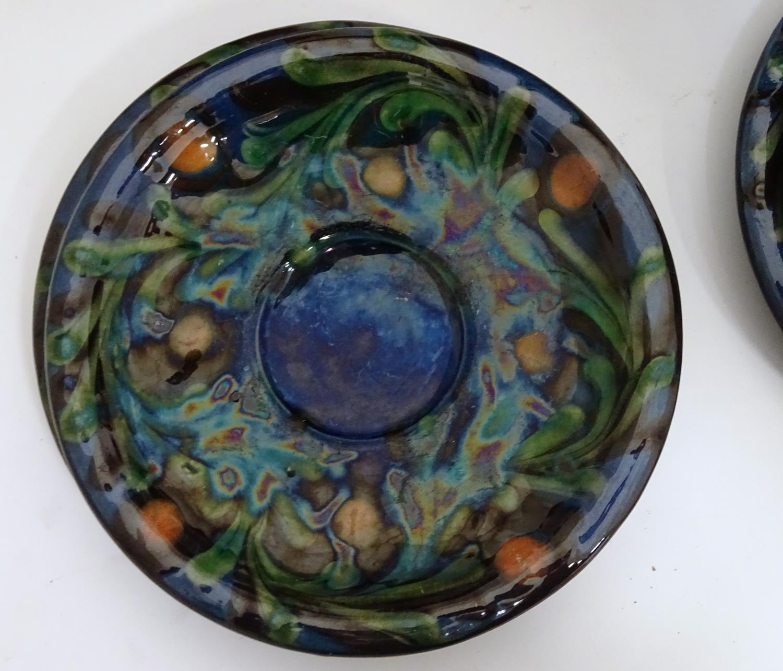 A quantity of Kahler Keramik Danish studio pottery tea wares, comprising a teapot and four cups - Image 15 of 30