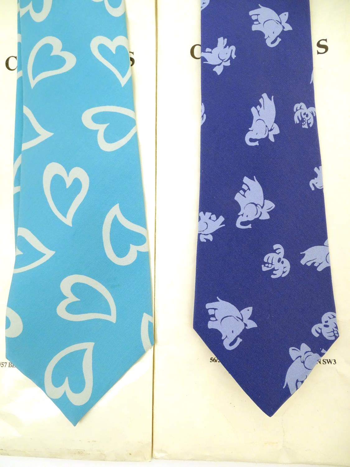 Vintage clothing/ fashion: 6 silk ties in various colours and patterns by Yves Saint Laurent, Nicole - Image 5 of 10