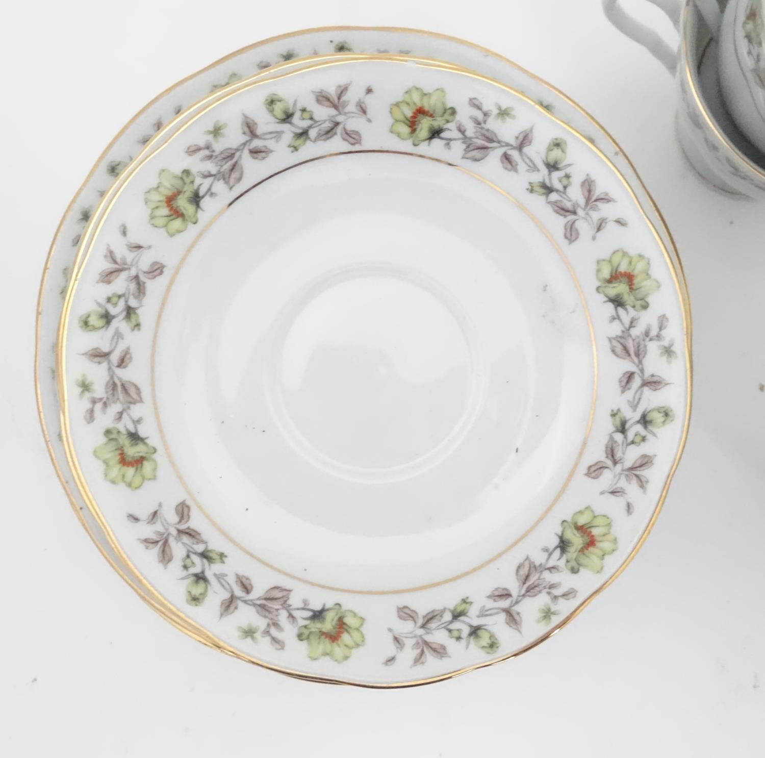 A quantity of assorted ceramics and glass to Colclough cups and saucer, Royal Brierley crystal - Image 9 of 15