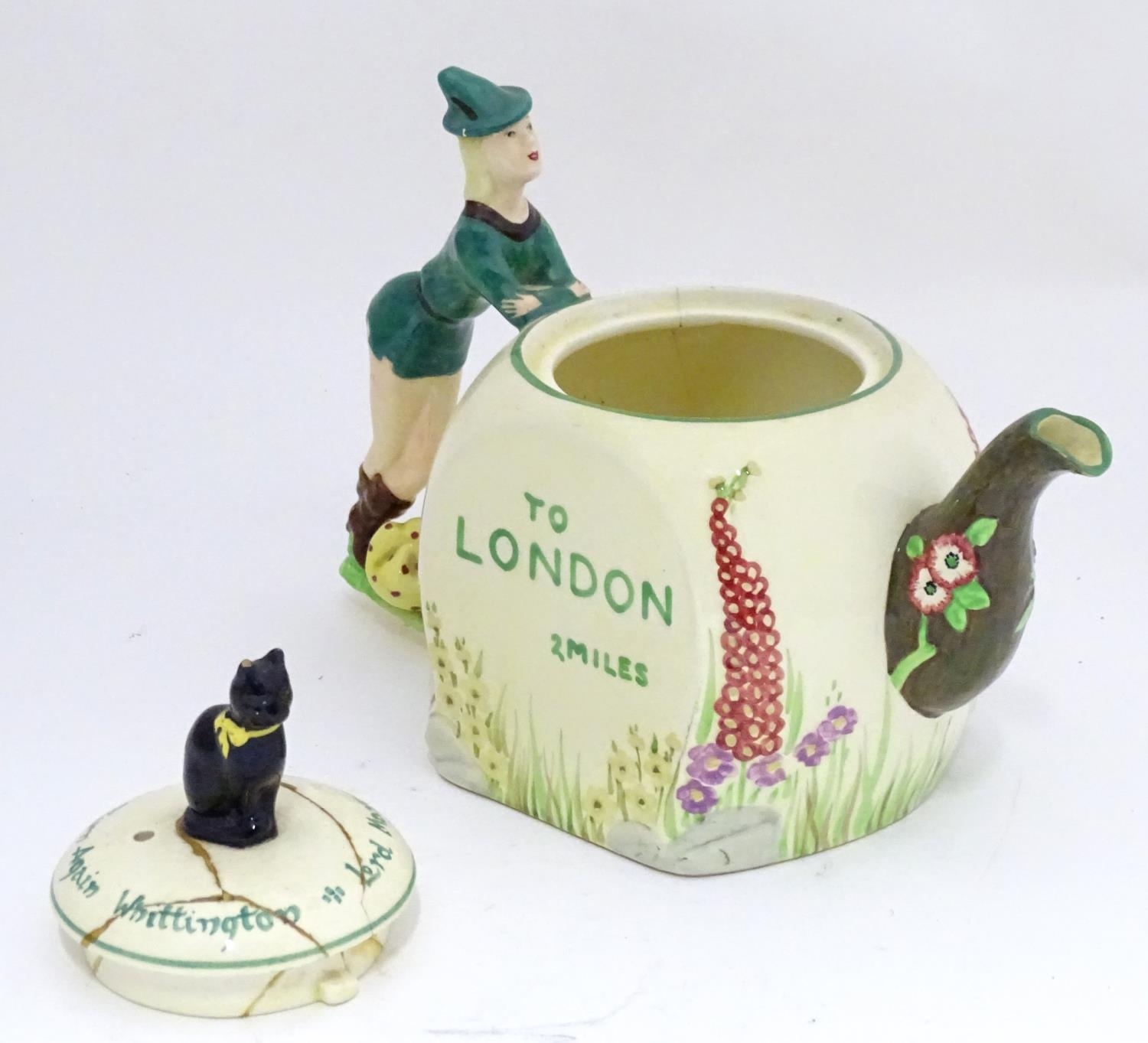A novelty Dick Whittington teapot Please Note - we do not make reference to the condition of lots - Image 5 of 6