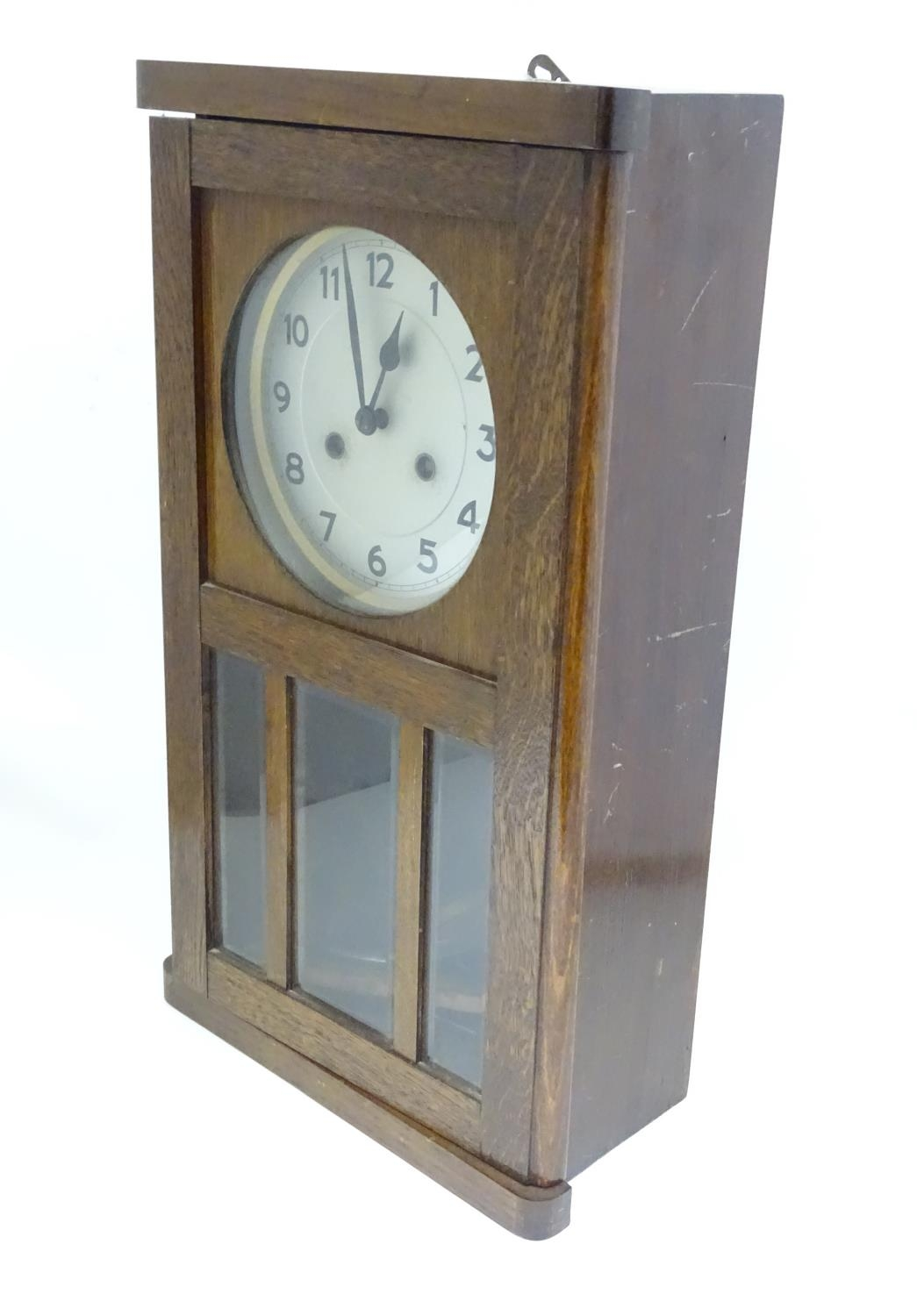 A 20thC English wall clock Please Note - we do not make reference to the condition of lots within - Image 4 of 4