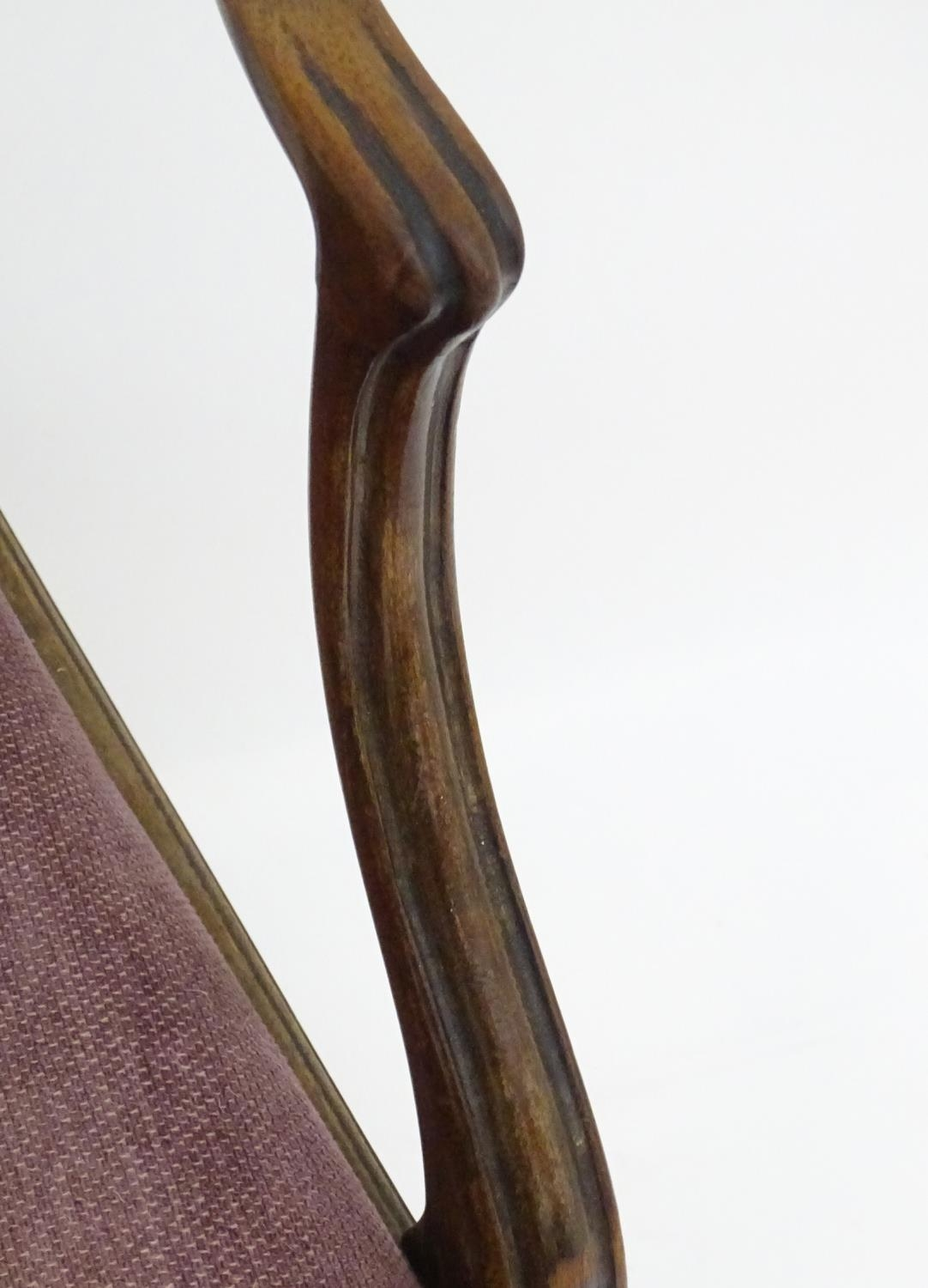 A 19thC mahogany carver chair with upholstered seat Please Note - we do not make reference to the - Image 6 of 6