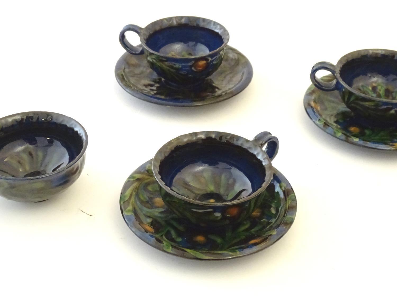 A quantity of Kahler Keramik Danish studio pottery tea wares, comprising a teapot and four cups - Image 16 of 30