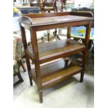 """A 20thC mahogany 3 tier buffet. Approx. 45 3/4"""" tall Please Note - we do not make reference to the"""