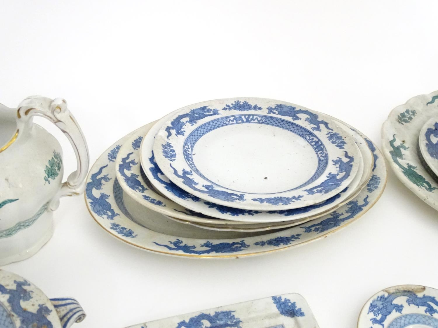 A large quantity of assorted Booths china to include teapots, plates, tureens, jugs, serving dishes, - Image 8 of 17