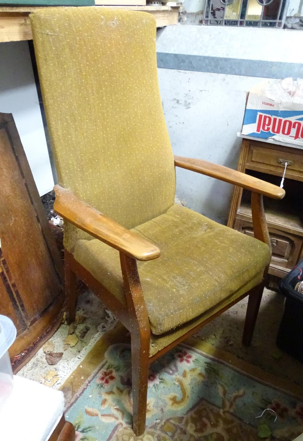 A mid century vintage retro Parker Knoll armchair Please Note - we do not make reference to the