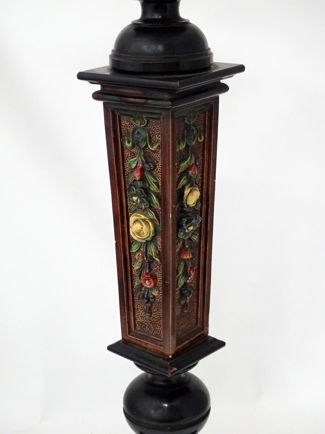 A jardiniere stand, the column with ceramic detail Please Note - we do not make reference to the - Image 4 of 5