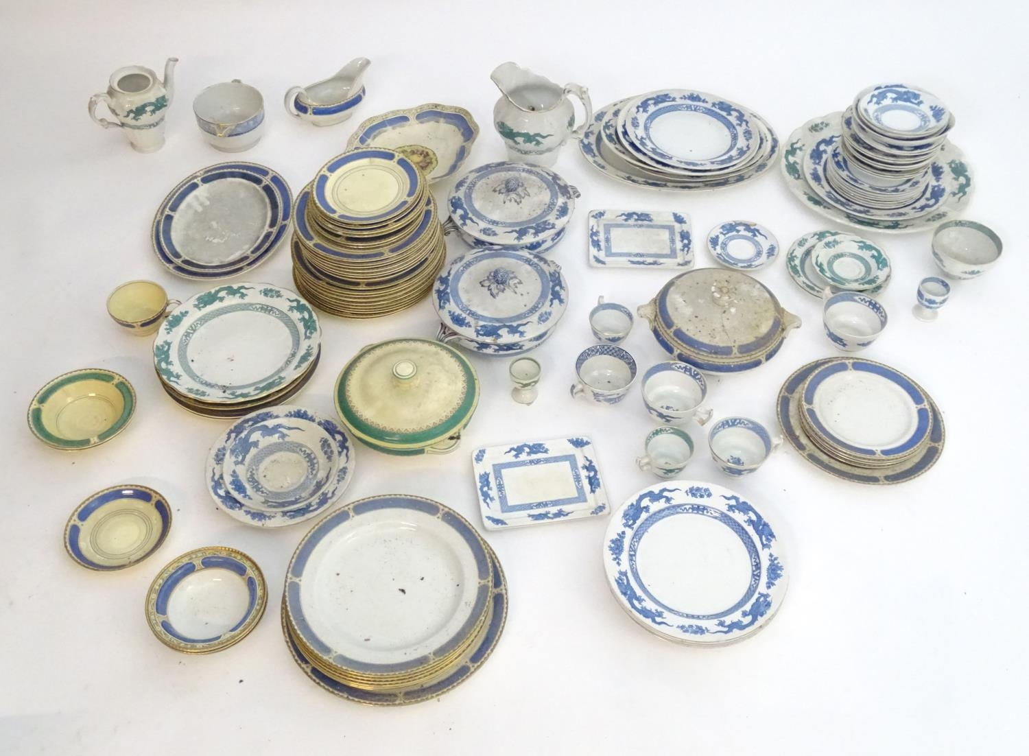A large quantity of assorted Booths china to include teapots, plates, tureens, jugs, serving dishes,