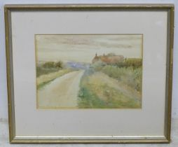 A watercolour landscape scene depicting Mount Owen, New Zealand, signed. Please Note - we do not
