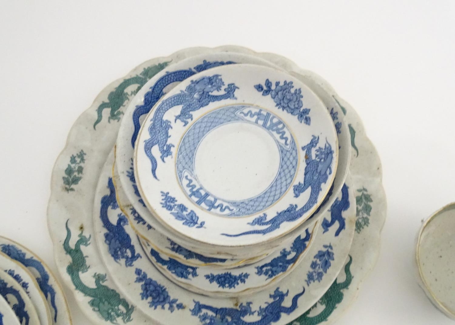 A large quantity of assorted Booths china to include teapots, plates, tureens, jugs, serving dishes, - Image 13 of 17