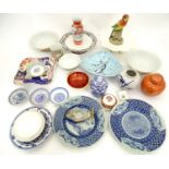 A quantity of assorted ceramics to include Beswick pin dish formed as a fish no. 1304, Oriental