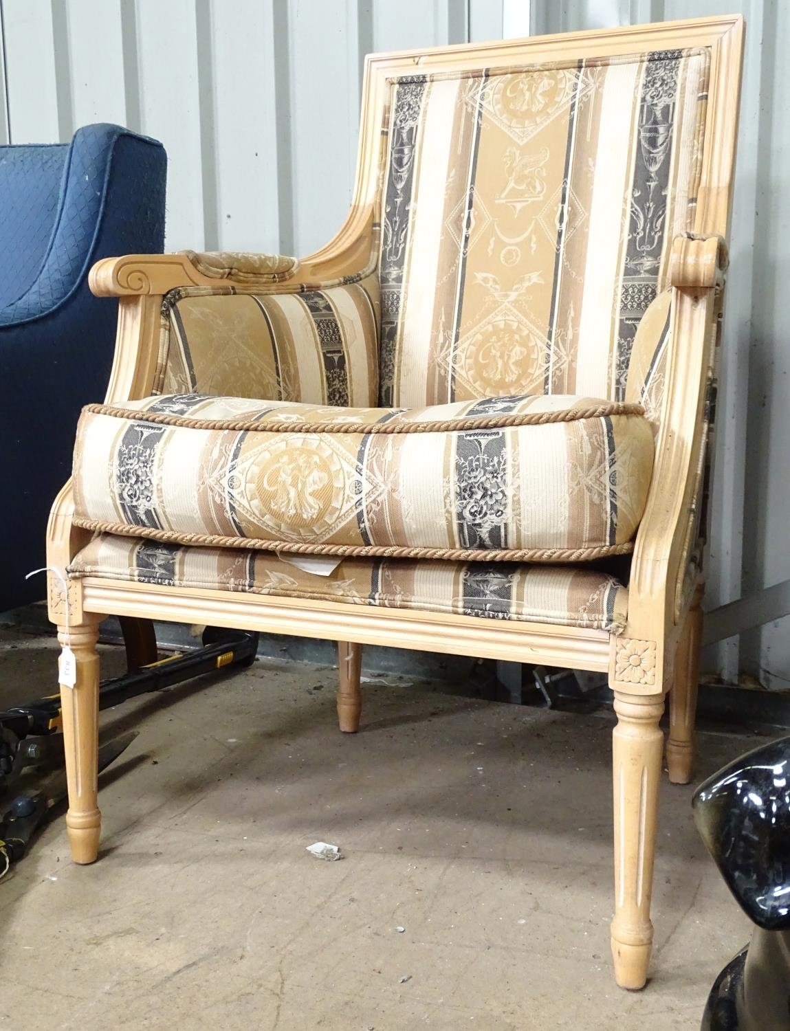 A late 20thC fauteuil style armchair Please Note - we do not make reference to the condition of lots - Image 2 of 3