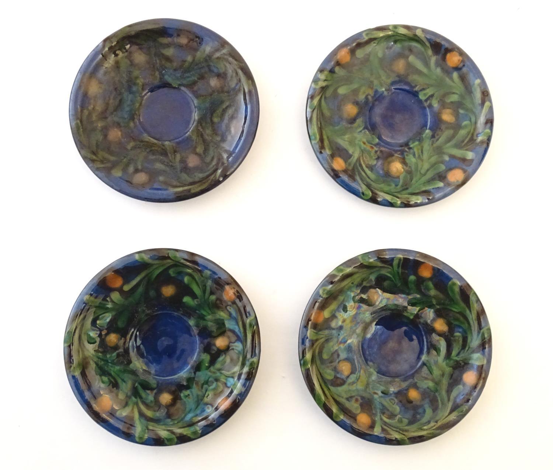 A quantity of Kahler Keramik Danish studio pottery tea wares, comprising a teapot and four cups - Image 17 of 30