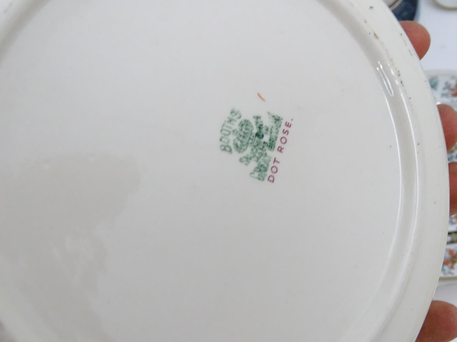 A large quantity of assorted Booths china to include bowls, coffee pots, chamber pots, cups, - Image 8 of 17