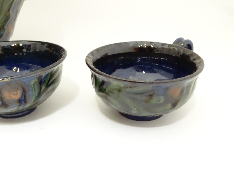 A quantity of Kahler Keramik Danish studio pottery tea wares, comprising a teapot and four cups - Image 3 of 30